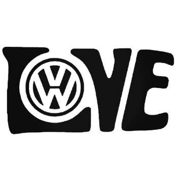 LOVE VW Vinyl Car Sticker VW Van Camper Hippy Decal MEDIUM 190mm x 97mm